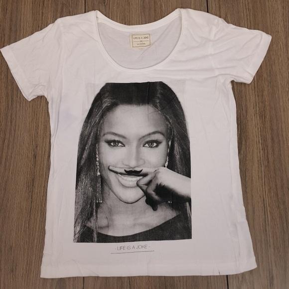 8a07f06e4 Eleven Paris Tops   Beyonce Life Is A Joke Tee Shirt Sz M   Poshmark